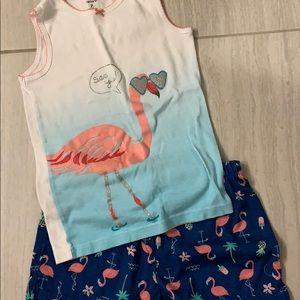 Like new Carter's Flamingo Pajamas